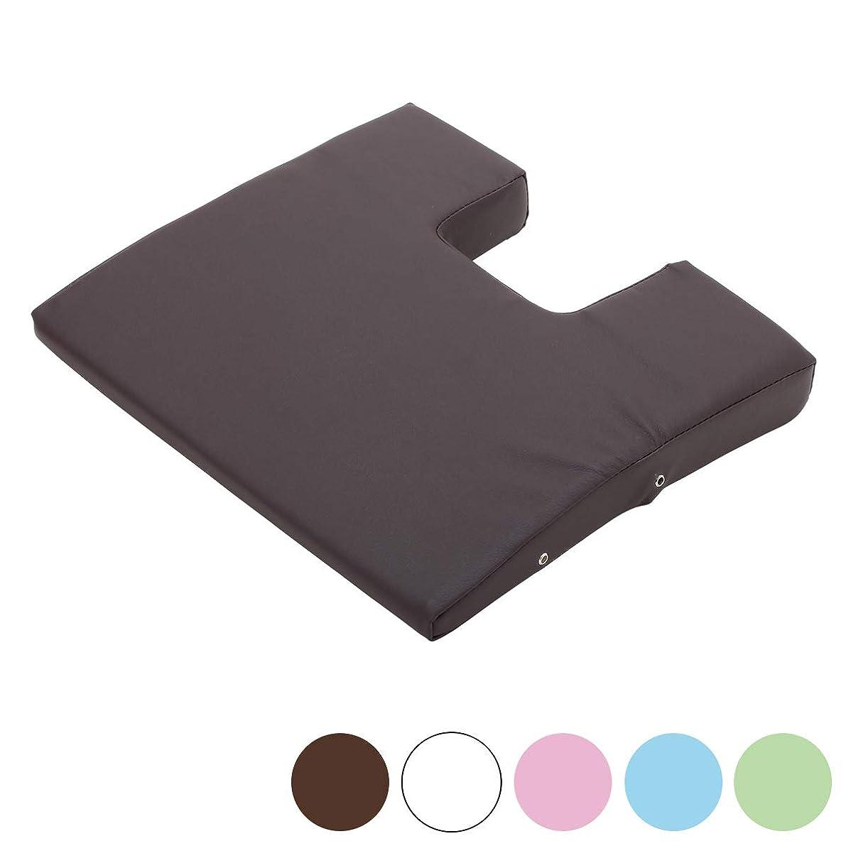 後者シンポジウム真鍮胸当てマクラ (薄型) バストマット 高さ2-5cm ブラウン [ マッサージ枕 うつぶせ枕 整体枕 エステマクラ 寝枕 クッション うつぶせ うつ伏せ マクラ 枕 マッサージ 整体 ]