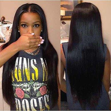 Jiayy - Perruque de cheveux longs, lisses et bruns 66 cm (26 \
