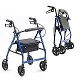 Best Rollators - Lightweight aluminium folding rollator wheeled walker walking frame Review