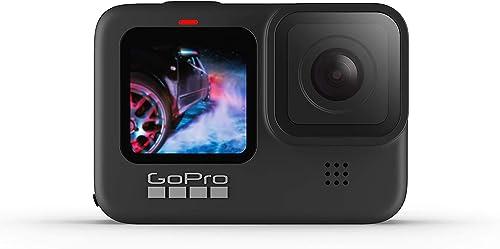 GoPro HERO9 Black - Caméra embarquée étanche avec écran LCD avant et écran tactile à l'arrière, vidéo 5K Ultra HD, ph...