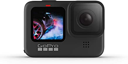 GoPro HERO9 Action Camera Black, Waterproof with Front LCD and Touch Rear Screens, 5K Ultra HD Video, 20MP Photos, 1080p L...