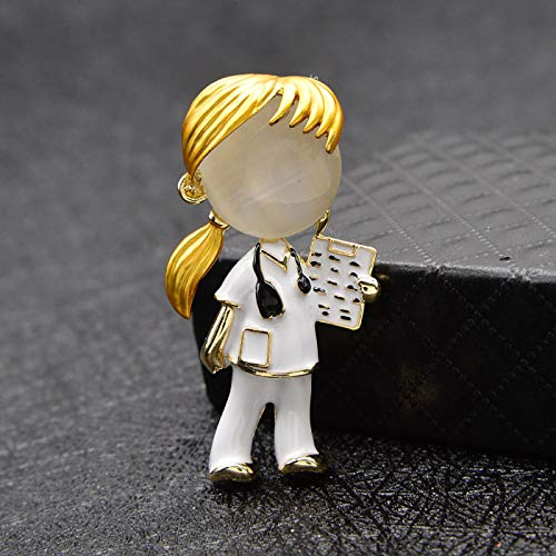 Brooches,Brooch 2pcs Opal Enamel Doctor Boys And Girls Brooches Medical Brooch Pin Nurse Jewelry Fashion Jewelry girl