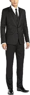 DTI GV Executive Italian Vested Men's Suit Wool 2 Button Jacket 3 Piece Tux Vest