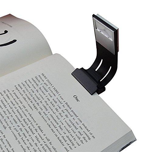 Areson Lampe de lecture LED à pince Solide Interrupteur 4niveaux de luminosité livre lumière Multifonction: marque-page, lampe de lecture pour livre, liseuse, etc.