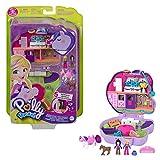Polly Pocket Coffret Univers Concours Hippique, mini-figurines Polly, une amie et 2 chevaux, surprises incluses, jouet pour enfant, GTN14