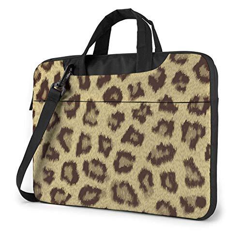 Yellow Leopard Print Laptop Shoulder Bag Messenger Bag Briefcase Handbag Laptop Case Sleeve for 13 Inch