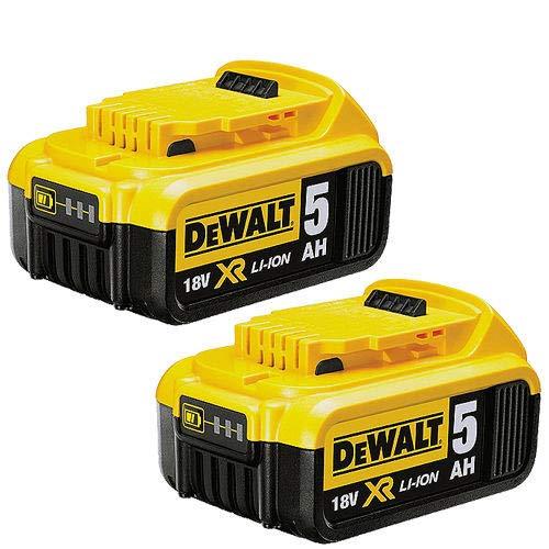 DEWALT DCB184-XJ XR Lithium-Ion Battery, 5Ah, 18V, Pack of 2