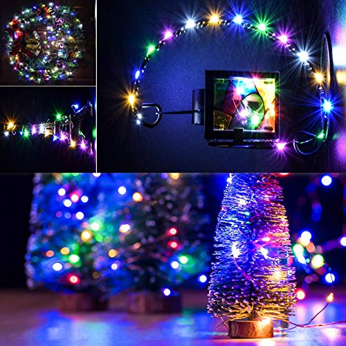 LED Fairy Light String, 10 Pack Micro 20 LED Battery Operated Silver Wire String Lights Waterproof Firefly Starry Lights for Centerpiece Wedding Party Decoration(6 Free Batteries, Multicolor)