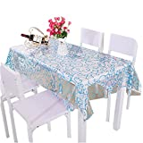 Waterproof and oilproof table cloth, rectangular anti-hot transparent tablecloth, environmental protection PVC material