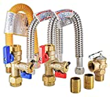 ◼️ TOP QUALITY: This complete kit includes all components that are crafted from high quality materials for years of usage. The main isolation valve set is factory tested to be leak free so you can be confident that your heater can be maintained perio...