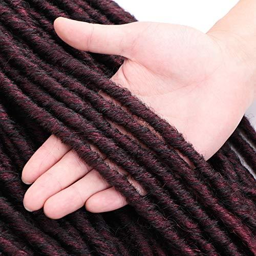 SHIM 20 « Déesse Faux Locs Crochet Extensions de Cheveux synthétiques Tresses Crochet Dread Locs tressage bouclés T1B Bug 3pcs / Lot