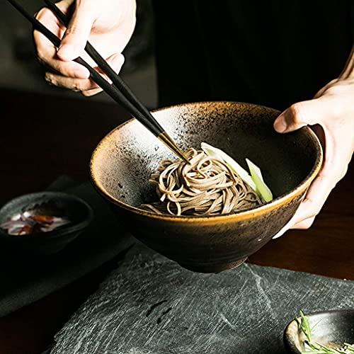 GAXQFEI Cclla Bowls Fruit Bowl Ceramic Grain Bowl Restaurant Soup Bowl Home Retro Ramen Bowl 18X9Cm