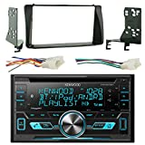 Kenwood Double Din Bluetooth CD Player Stereo Receiver Bundle Combo with 2-Din Installation Dash Kit + Wiring Radio Harness for Select 2003-08 Toyota Corolla Car Vehicles