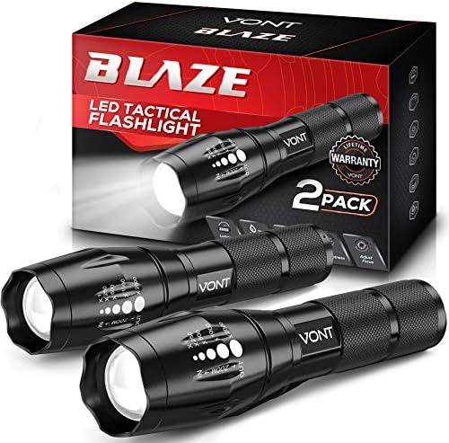 Vont Blaze Tactical Flashlight 2 Pack LED Flashlights Extremely Bright Flash Light High Lumen product image