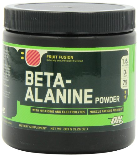 Optimum Nutrition Beta Alanine Powder, Fruit Fusion, 75 Servings, 9.26 Ounce
