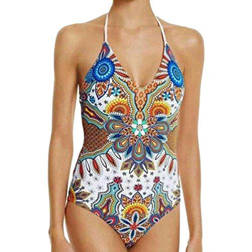Wanyang Donna Costumi Interi Moda Bikini Imbottiti Vita Alta High Cut Sport Costume Intero Brasiliana Monokini Trikini Costumi da Bagno Mare Tinta Unita White S