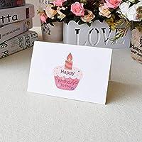 3D三次元のグリーティングカードバースデーカードの女の子の子供たちの子供たちの妻の夫の誕生日ケーキ挨拶カードギフトカードと封筒ステッカーポストカード (Color : Light Green)