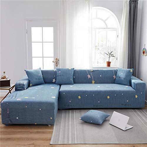 Funda de sofá de Sala de Estar en Forma de L geométrica Funda de sofá elástica Funda de sofá reclinable elástica Funda de sofá Lavable A31 4 plazas