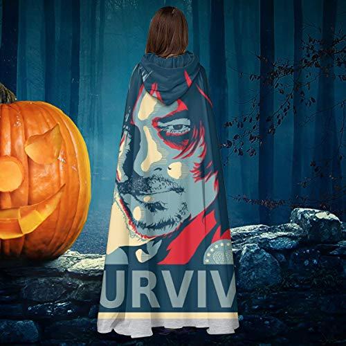 AISFGBJ - Disfraz de Daryl Dixon HES No Ones Bitch, Unisex, para Halloween, Bruja, Caballero, con Capucha