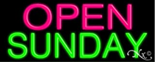13x32x3 inches Open Sunday NEON Advertising Window Sign