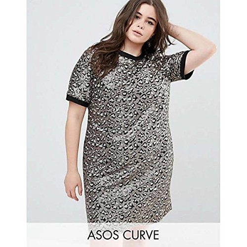 エイソス トップス ワンピース ASOS CURVE Animal Embellished Shift Mini Multi