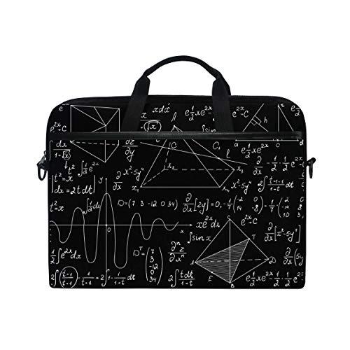 Buyxbn Scientific Laptop-Umhängetasche, Laptoptasche, Aktentasche, Computertasche, Handtasche, für Damen und Herren, mit Reißverschluss