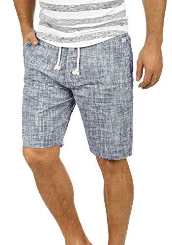 Blend Bones Herren Leinenshorts Kurze Leinenhose Bermuda In Leinen-Optik Aus 100% Baumwolle Regular Fit, Größe:L, Farbe:Navy (70230)