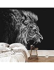 LSDAMW Wall Foto Wall Reus Wall Zwart Wit Dieren Leeuwen 250X256Cm Behang Kinderkamer Achtergrond Muur Woondecoratie Achtergrond Muurschildering 3D Behang Behang Muursticker
