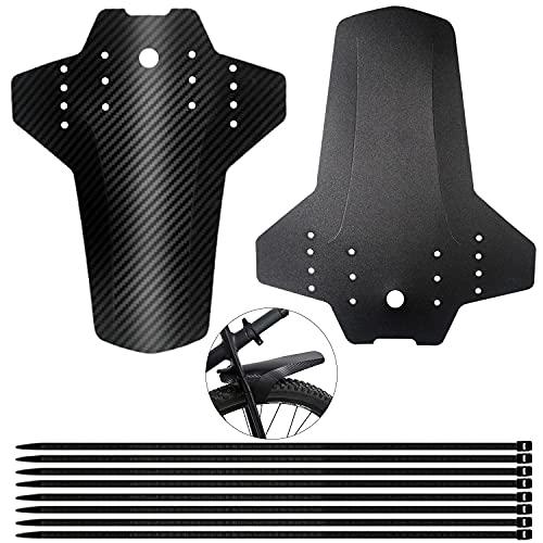 GIAK Mudguard MTB Schutzbleche Mountainbike Fahrrad Schutzblech MTB Spritzschutz Für 26/27.5/29 Zoll Vordere und Hintere Kompatible Mudguard 2 Stück Fahrrad Mud Guard