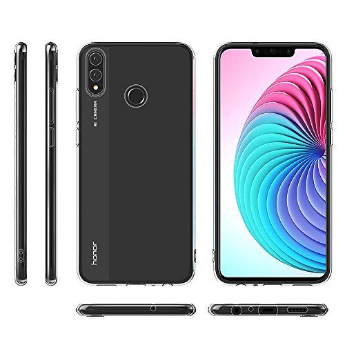 BENNALD Hülle für Honor 8X Hülle, Clear Soft Flex Silikon Durchsichtige Schutzhülle Case Cover-Slim TPU Bumper Tasche Passgenau Handyhülle für Huawei Honor 8X (Transparent, Clear) - 3