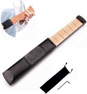 ポケットギター 練習用 6フレット ポータブルギター ギター補助 ポケットストリングス 初心者向け 持ち運び便利 トレーニング