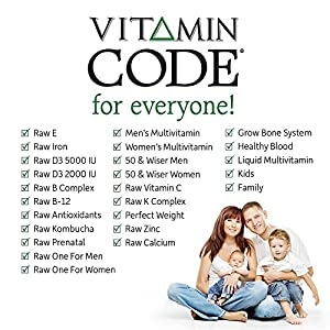 Garden of Life Multivitamin for Women, Men & Kids Age 6 and up, Vitamin Code Family Multi - 120 Vegetarian Capsules, Whole Food Vitamins, Food Blend & Probiotics, Gluten Free Dietary Supplements
