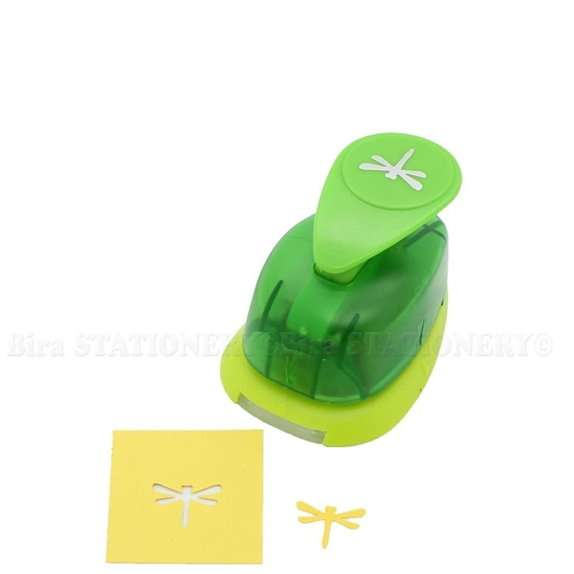 Bira 5/8 inch Dragonfly 2 Shape Lever Action Craft Punch for Paper Crafting Scrapbooking
