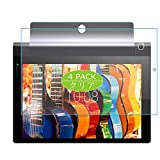 VacFun 4 Piezas HD Claro Protector de Pantalla Compatible con Lenovo Yoga Tab 3 10 X50F 10', Screen Protector Sin Burbujas Película Protectora (Not Cristal Templado) New Version