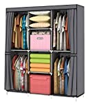 YOUUD Wardrobe Storage Closet Clothes Portable Wardrobe Storage Closet...
