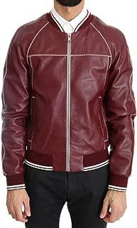 Bordeaux Lambskin Bomber Stitched Jacket