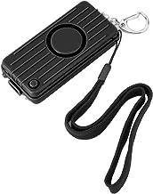 QXQX (zwart) Anti-rob Personal Security Sleutelhanger Alarm 130db Whistle Led Lighting Noodverdediging