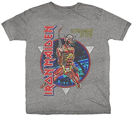 Iron Maiden 'Somewhere In Time' (Gris) Camiseta