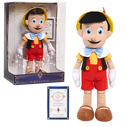 Disney Treasures from The Vault, Limited Edition Pinocchio Plush, Amazon Exclusive