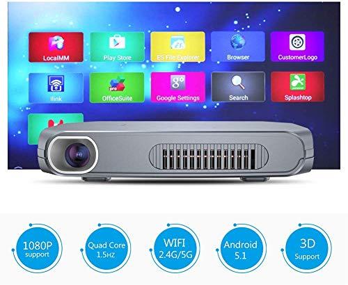 Miniprojector-bewegende zakken DLP-videoprojector thuis en onderweg entertainment ondersteuning HD 1080P met accu-stereo-luidsprekers