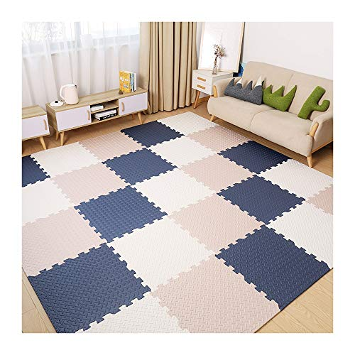 QWERTY Home Area Rugs for Living Room Interlocking Gymnastic Mats for–Yoga–Exercise-Garage- Floor Protection-Playroom–Anti Fatigue– Foam–Best Leafage Pattern Tatami Foam Tiles