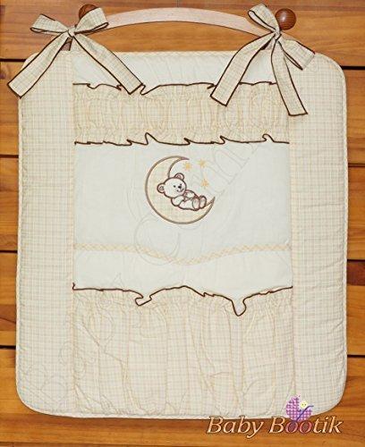 Chambre d'enfant pour lit de bébé Rangement pour lit bébé ou lit pour bébé Ours Lune – Crème