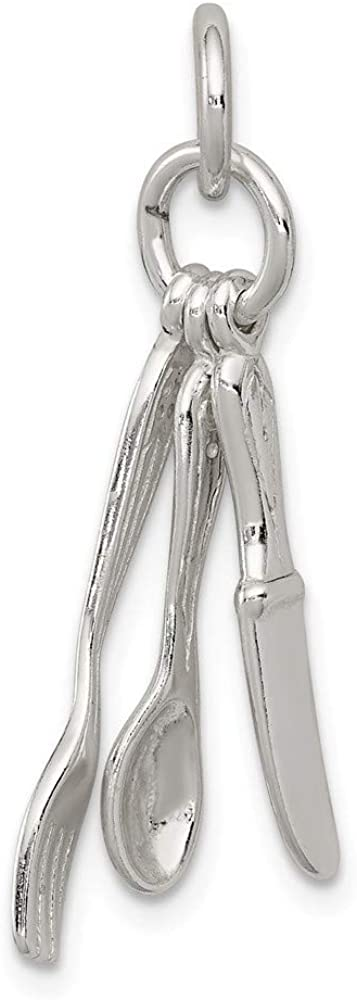 925 Sterling Silver Polished Fork Very popular Charm Knive Spoon and Pendant New arrival