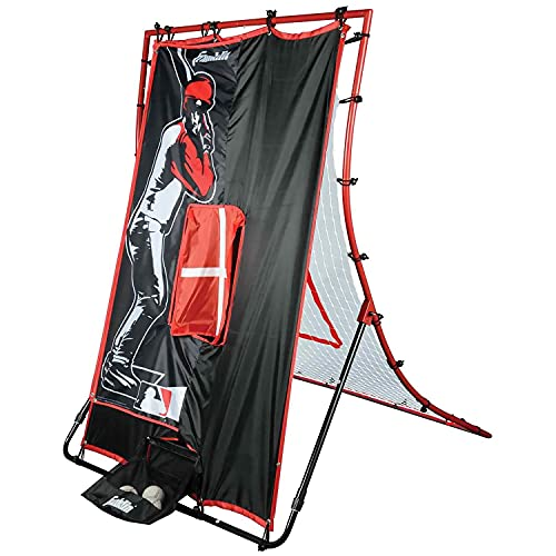 """Franklin Sports MLB 2-in-1 Switch-Hitter Flyback Return Trainer, 68"""" x 44"""""""