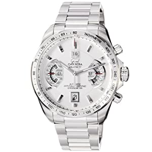 TAG Heuer Men's CAV511B.BA0902 Grand Carrera Chronograph Calibre 17 RS Watch Shop and Now and review image