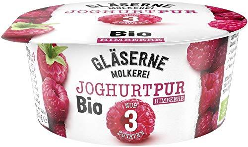 Gläserne Molkerei Bio Bio-Joghurt pur, Himbeere 150g (6 x 150 gr)