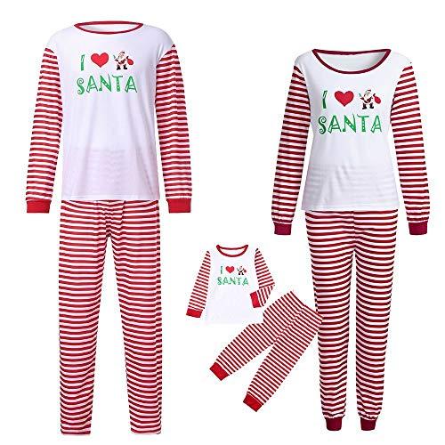Riou Weihnachten Set Baby Kleidung Pullover Pyjama Outfits Set Familie Nachtwäsche Schlafanzug PJS Homewear für Kinder Eltern Jungen Mädchen Kleidung Sleepwear Set (130, Baby)