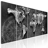 decomonkey Bilder Weltkarte 200x80 cm 5 Teilig Leinwandbilder Bild auf Leinwand Wandbild Kunstdruck...