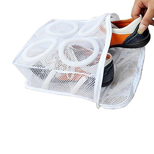 Momangel 1 Stück Turnschuhe Tennisschuhe Sportschuhe Mesh Wäschebeutel, weiß, Einheitsgröße