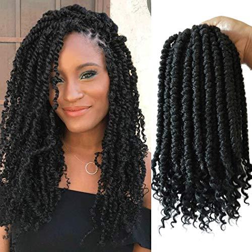 Flyteng Spring Twist hair 12 inches 6 packs black Senegalese spring twists Crochet Braids hairstyles bomb twist crochet hair For Black Women